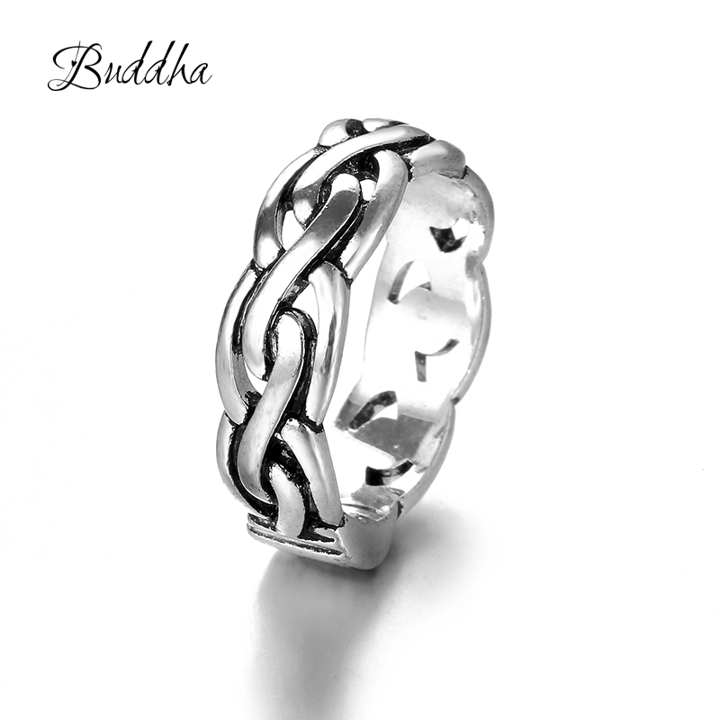 Ancient Silver Infinity Buddha Ring Eternity Ring Charms Best Friend Gift Endless Symbol Fashion Rings for Women Free Shipping