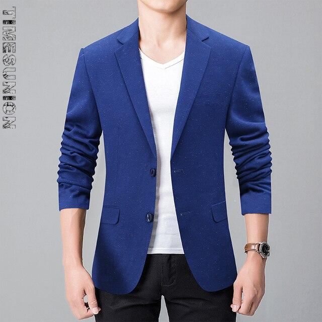 Venta caliente 2017 Nuevos Mens Casual Blazer Dos Hebilla Vestido Chaqueta de Los Hombres Slim Fit Traje Chaqueta Blazer Escudo Sólido Hombres