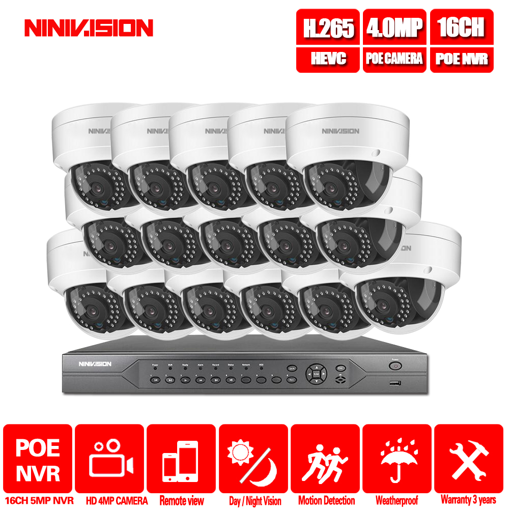16CH 4 K 5MP 4MP 3MP POE NVR kit Câmera IP PoE P2P 2MP Nuvem Onvif FTP CCTV IR Sistema kit de Vigilância de Vídeo de Visão Noturna ao ar livre