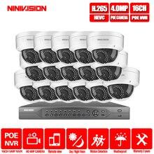 16CH 4 K POE NVR 5MP 4MP 3MP 2MP комплект PoE IP Камера P2P Облако IP камера Onvif FTP CCTV Системы ИК Открытый Ночное видение комплект видеонаблюдения