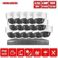 16CH 4K POE NVR 5MP 4MP 3MP 2MP kit PoE IP Camera P2P Cloud Onvif FTP CCTV System IR Outdoor Night Vision Video Surveillance Kit
