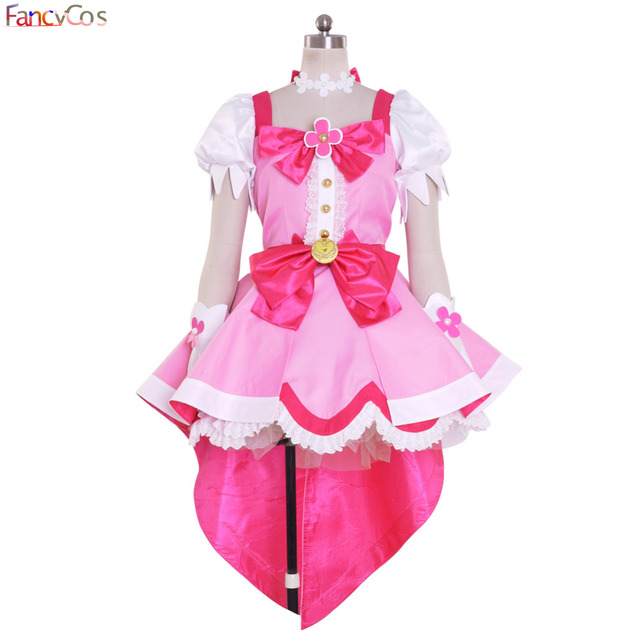 Halloween Women s Go! Princess PreCure Cure Flora Party Dress Cosplay  Costume High Quality Custom Made 75d378058abb