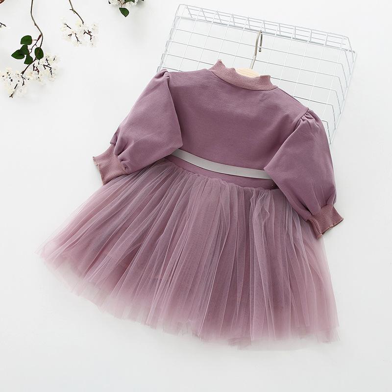 HTB1utAZowvD8KJjSsplq6yIEFXaU - Fashion stitching Baby Girl Dress Long sleeve spring Dresses for 0-24 month Girls Clothes Vestido Infantil Newborn Baby Clothing