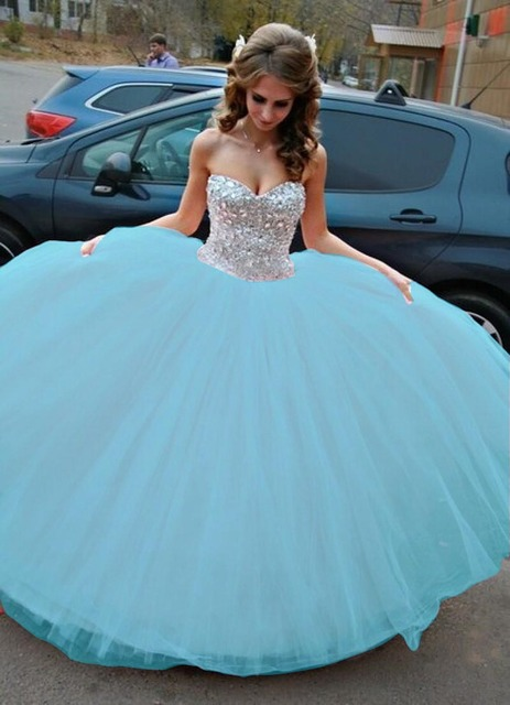 65eb7a56cf Sparkle Crystals Sweet 17 Dresses beautiful Sweetheart Ball Gown Pink  Quinceanera Dresses 2017 New Arrival
