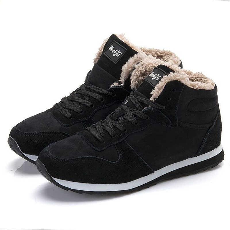 Mannen Laarzen Mode Mannen Winter Schoenen Plus Size Winter Botas Hombre Warm Bont Schoenen Snowboots Voor Mannen Booties winter Sneakers