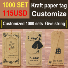 High quality hang tag /grade kraft paper /clothing bag label/customized printed logo swing dp292