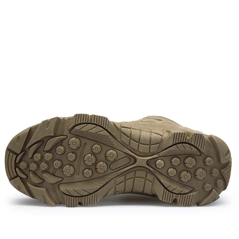 Armée Militaires Cheville 2018 Confortable Désert Khaki Neige De Chaussures Travaillent Bottes brown Hommes Combat D'hiver Mode r0WPwq0I