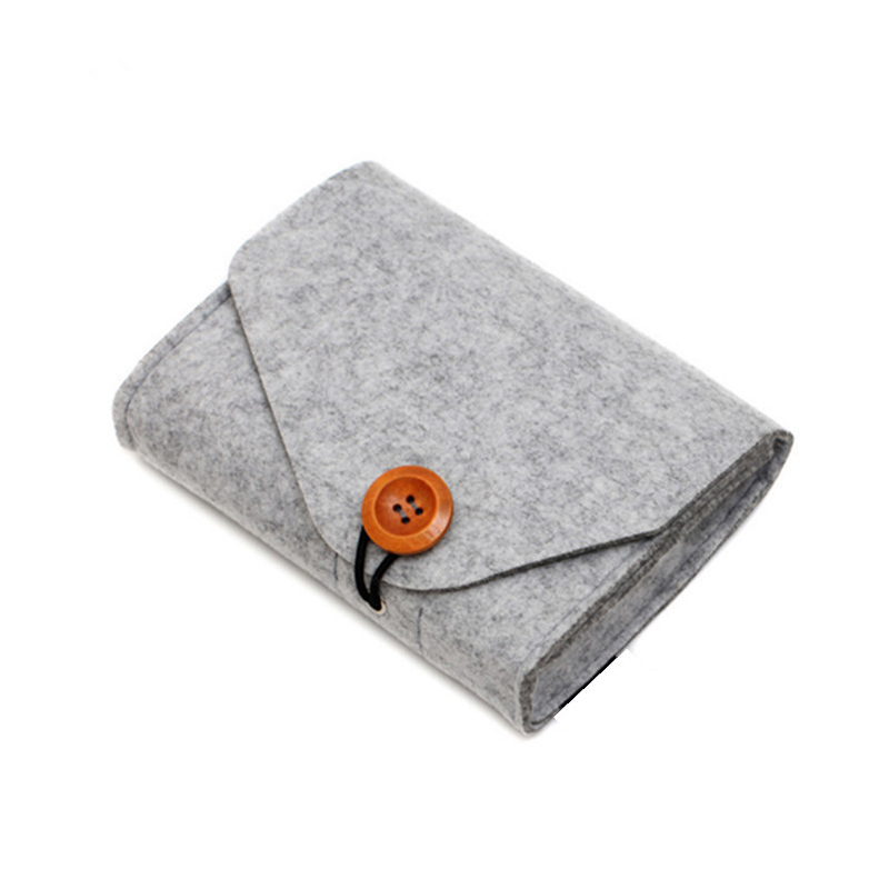 Quality Home Storage Organization 1 Pcs Key Coin Package Mini Felt Pouch Earphone Sd Card Power Bank Data Cable Travel Organiz