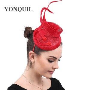 4-слойные шляпы sinamay millinery, свадебные аксессуары для волос, ободки для волос, церковные головные повязки, высокое качество, новая мода
