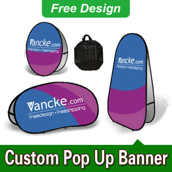 Free Design Free Shipping Vertical Top Banner Frame Pop Out Banners Pop Up Banner Printing