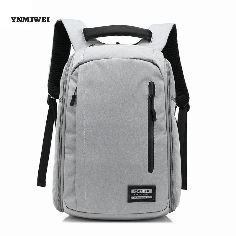 YNMIWEI Backpack Laptop Bag Polyester For Macbook 15 Inches For HP Dell Samsung Travel Laptop Notebook Bag Case For Men gearmax laptop backpacks 14 15 15 6 inch free keyboard cover for macbook 13 15 genuine leather and nylon notebook bag for dell