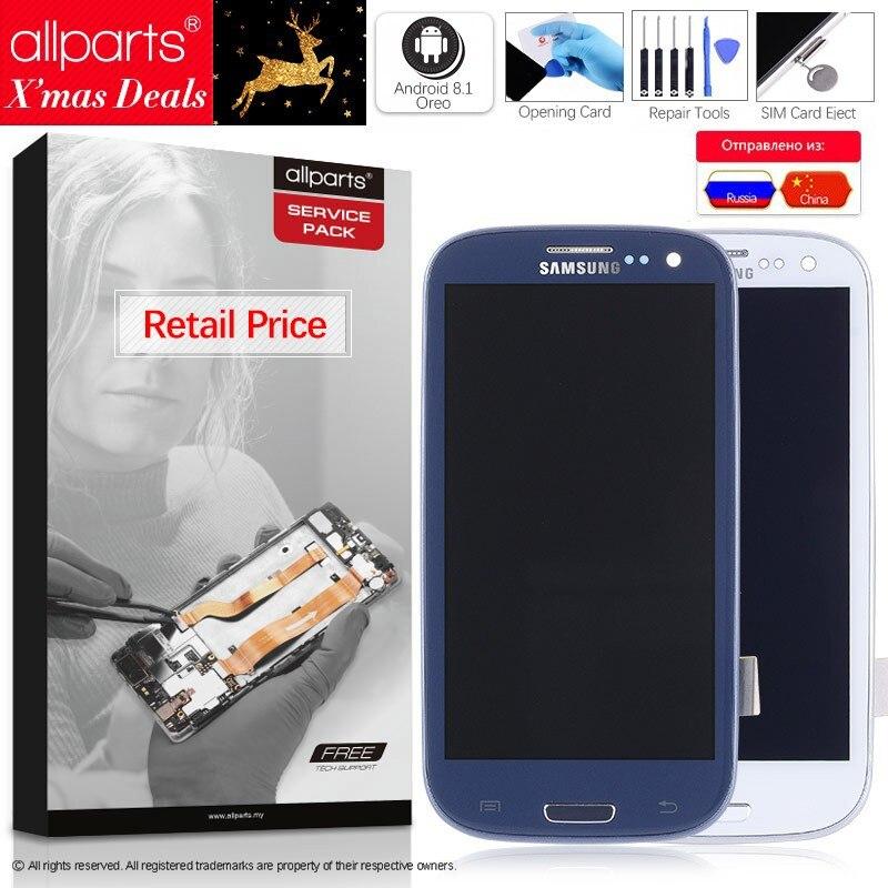 NUEVO Original pantalla para SAMSUNG Galaxy S3 LCD Tactil Completa Display táctil Écran para SAMSUNG Galaxy S3 i9300 pantalla LCD con marco Digitalizador reemplazo Blanco