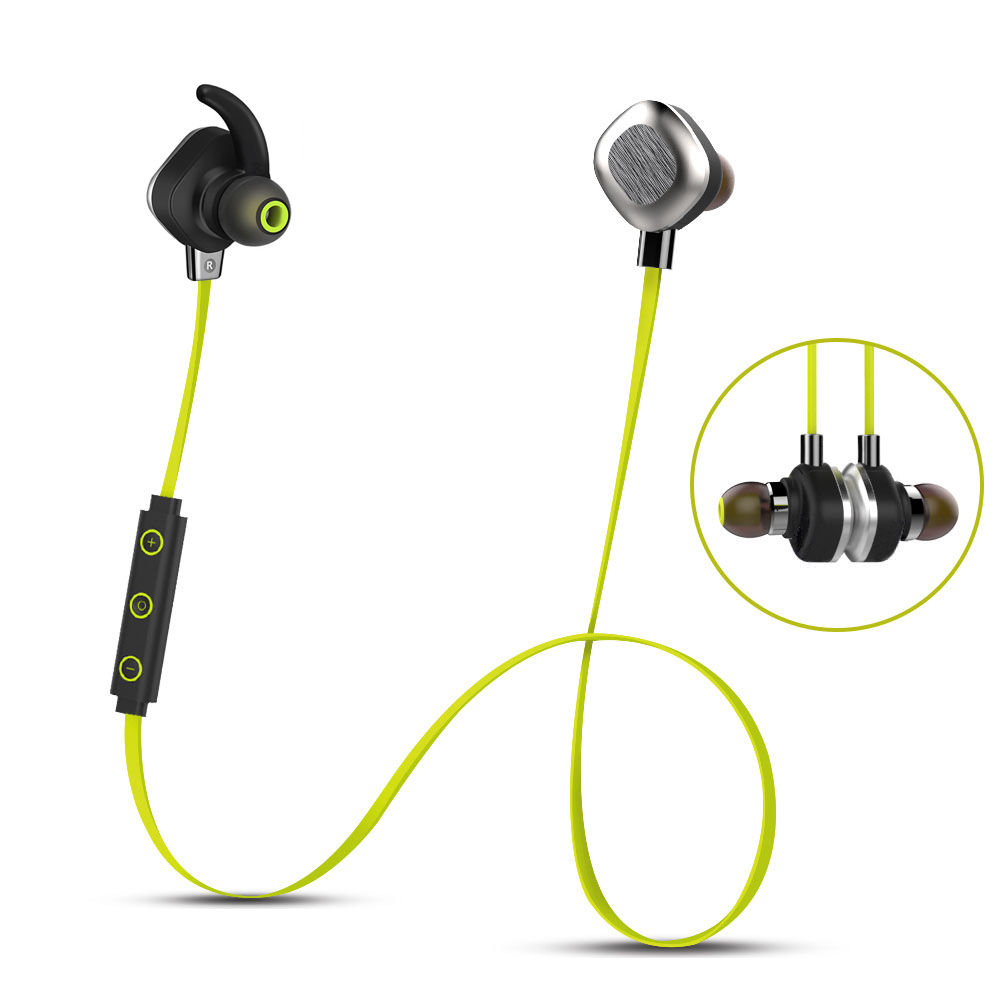 bluetooth headset wireless earphone microphone for phone stereo sport waterproof magnetic earbuds