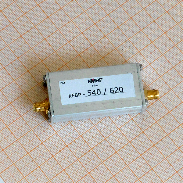 540 ~ 620MHz UHF Band Pass Filter, SMA Interface540 ~ 620MHz UHF Band Pass Filter, SMA Interface