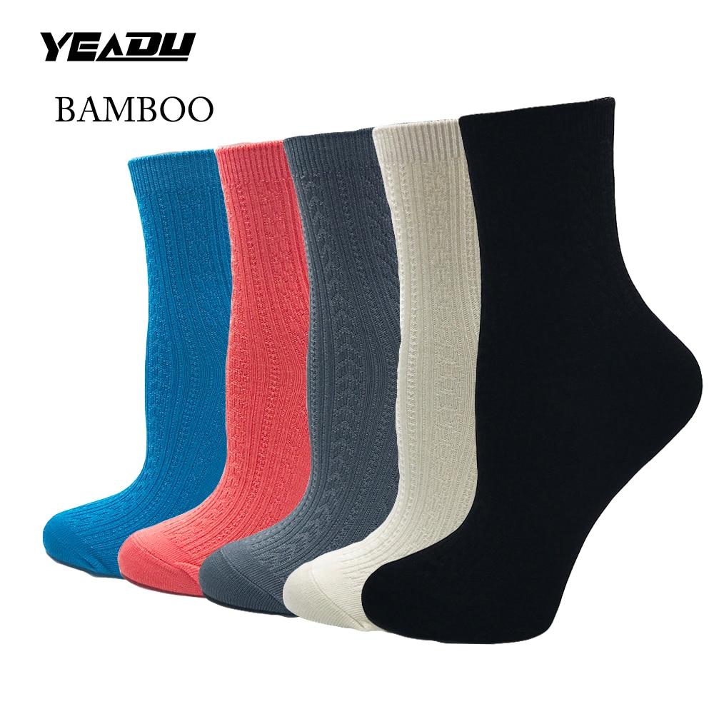 Новые однотонные женские короткие носки из бамбукового волокна, удобные, хорошего качества, лучший подарок для девушек (5 пар/лот)