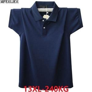 Image 1 - Hommes grande taille grand t Shirts dété col rabattu 8XL 9XL 10XL 11XL 12XL COTON t Shirts à manches courtes lâche 58 60 62 64 66 68 70 72
