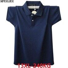 Männer plus größe große sommer t Shirts drehen unten kragen 8XL 9XL 10XL 11XL 12XL baumwolle kurzarm t stücke lose 58 60 62 64 66 68 70 72