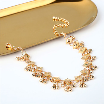2018 Fashion Vintage Anklet Foot Bracelet On The Leg In Gold/Silver Color Stainless Steel Jewelry For Women Indian Halhal 2