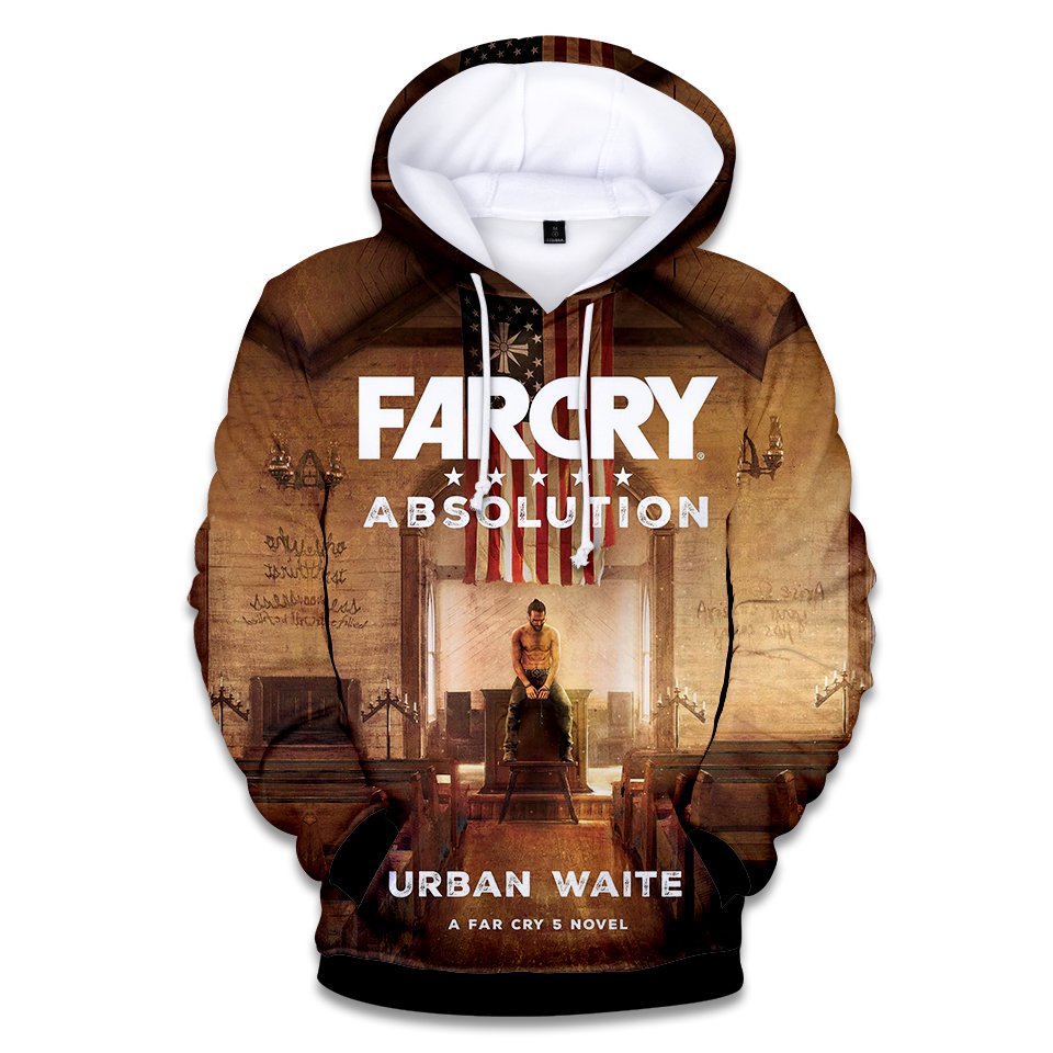 Newest Game Far Cry 5 3D Print Women And Men Hooded Fashion Hoodies Fashion Sweatshirts Pullover Harajuku style Leisure Hip Hop
