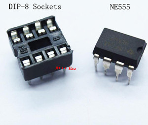 20pcs , (10 each) NE555 IC 555 & 8 Pin DIP Sockets(China)