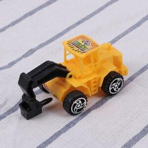 Image 5 - Mini juguete de ingeniería vehículo camión para construcción, juguetes educativos, juguetes modelo de camión, decoración de fiesta de cumpleaños para niños 6 uds.