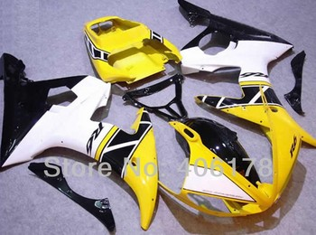 Yzf600 R6 03 04 fairing For Yzf R6 2003 2004 Sport Motorcycle Yellow and White Fairing (Injection molding)