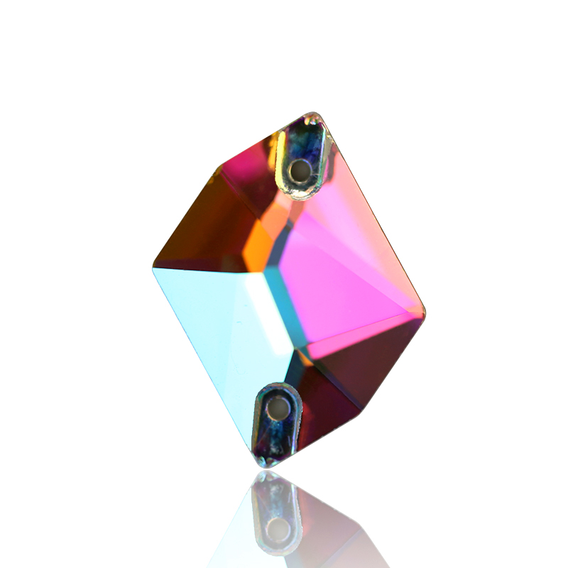 AAAAA quality Cosmic 3size Pear Shape Crystal AB Sew On Rhinestones Flat Back Crystals Sewing Rhinestones Crystals Stone