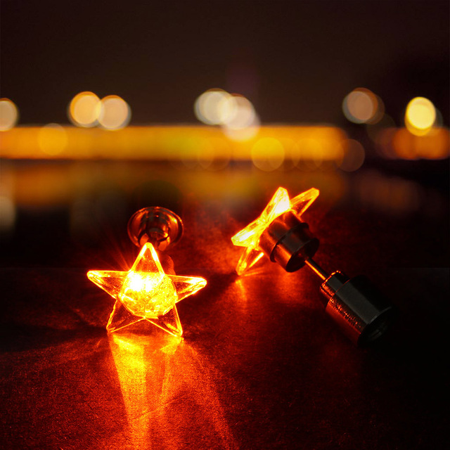 1 Pair 9 Colors LED Earring Light Up Bright Stud Earrings Star Glowing Ear Stud For.jpg 640x640 - 1 Pair 9 Colors LED Earring Light Up Bright Stud Earrings Star Glowing Ear Stud For DJ Dance Party Bar Girl Ear Stud Blinking