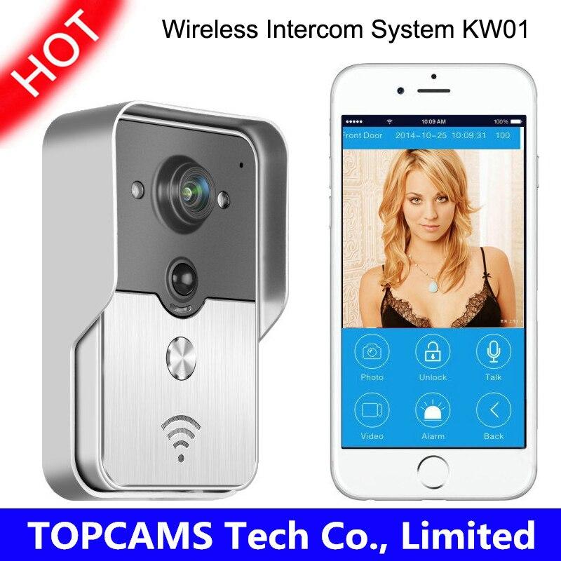 KNOX KW01 Wifi IP Camera Doorbell Wireless Video Intercom Phone Control IP Door Phone Smart Doorbell for iphone free shipping