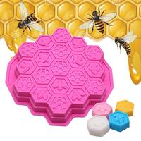 3D Honey Comb Silicone Cake Mold Bees DIY Chocolate Soap Mould 19 Cell Beeswax Ice Tray