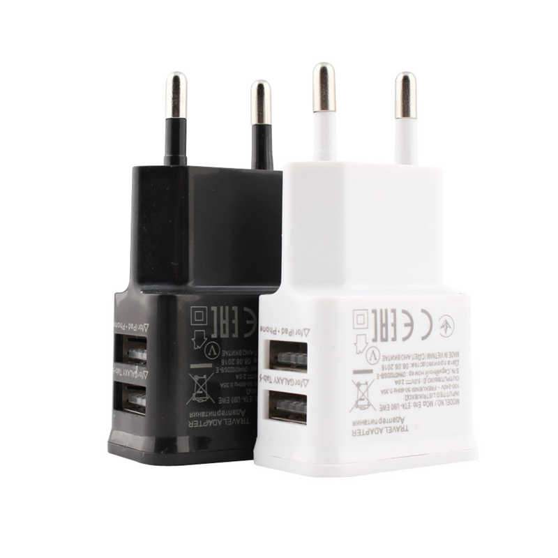 5V 2A Uni Eropa Plug Adaptor USB Dinding Charger untuk Samsung Iphone Xiaomi Ponsel Charger untuk Ipad Universal Travel AC Power Charger