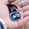 Tamanho 2 Bolo Laços para Os Homens Do Vintage Azul Strass Artesanal Bola Gravata 2015 Novo Moda de Luxo Das Mulheres da Cadeia de Acessórios de Presente caixa