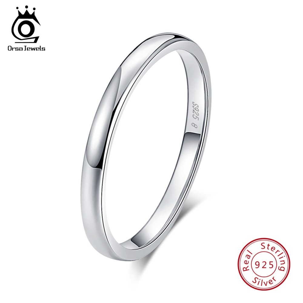 Orsa Jewels 100 Real 925 Sterling Silver Rings For Women Simple