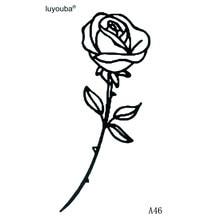 Fałszywy Czarny Róża Tatuaż Promocja Sklep Dla Promocyjnych
