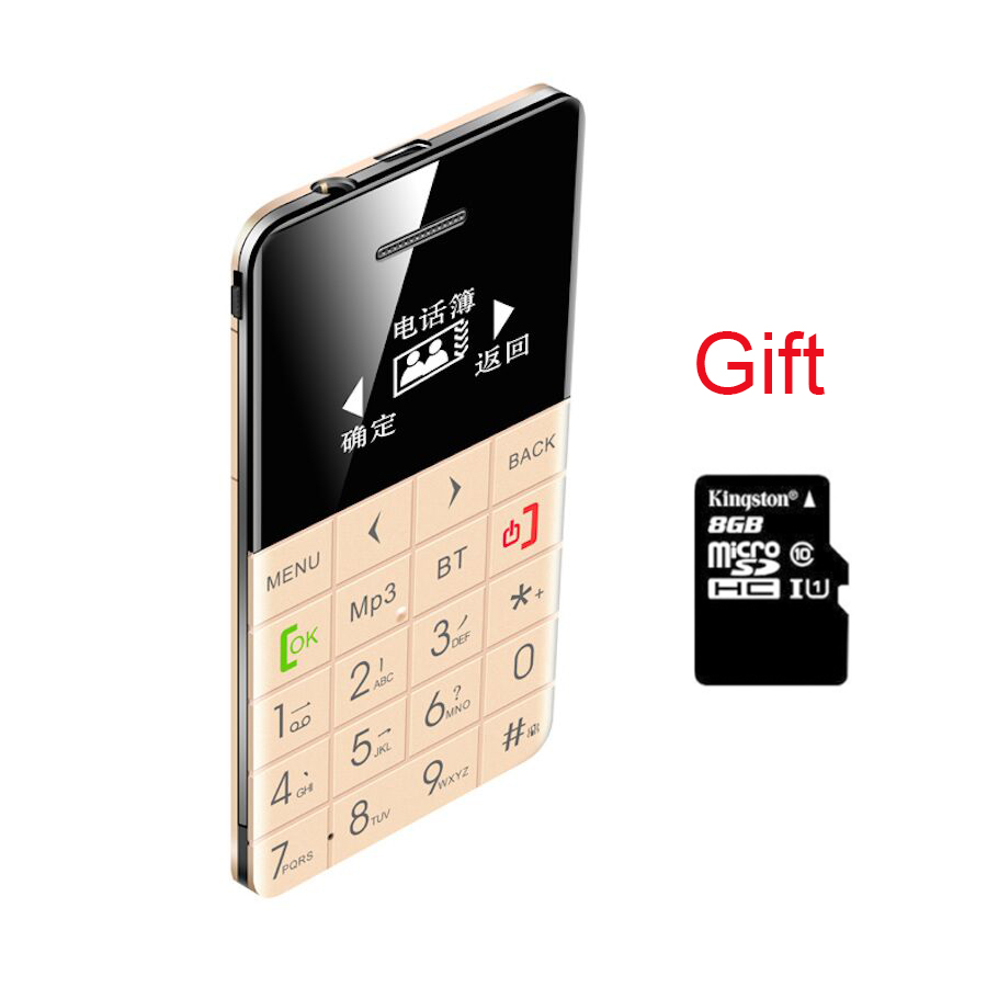 8G TF Gift AIEK QMART Q5 M5 Card Mobile Phone 5 5mm Ultra Thin Pocket Mini