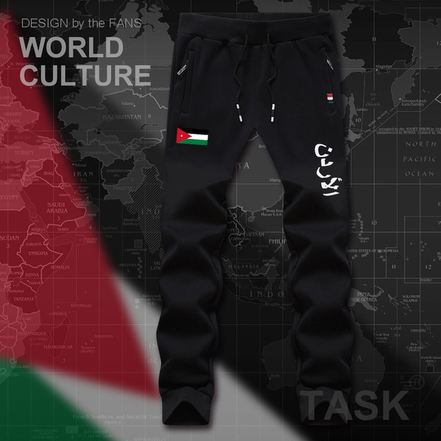 ca846e0e031b0f Jordan Jordanian JOR Arabic Arab JO mens pants joggers jumpsuit sweatpants  track sweat fitness fleece tactical casual nation new