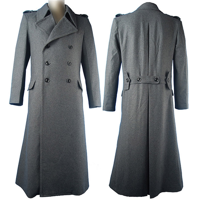 Company Of Heroes 2 Cosplay  Trench Coat Soviet Sniper Overcoat Outfit Halloween Costume Men Adults Xmas Gift