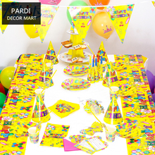 The Colorful Balloon Theme kids Party supplies birthday party decoration yellow balloon baby party supplies set