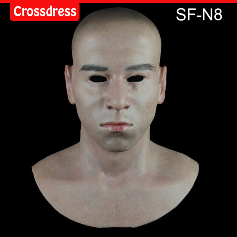 SF-N8  silicone true people mask  costume mask human face mask silicone dropshipping sf 8 silicone true people mask costume mask human face mask silicone dropshipping