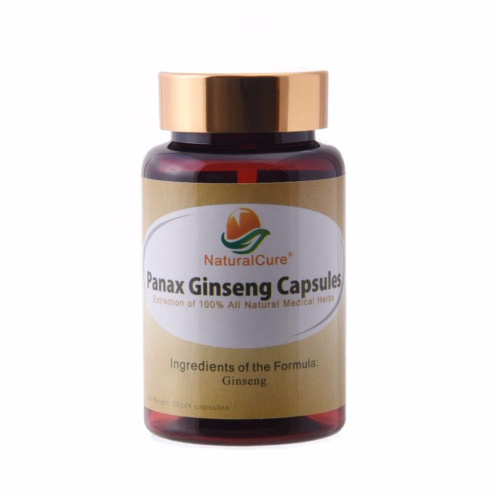 NaturalCure Panax Ginseng Capsule, 100% Natural Wild Ginseng Powder, Tonify Body Organs, Improve Immune System 10 1 pe 100% natural 10 years ginseng root extract powder 100g bag korean ginseng powder bulk packing