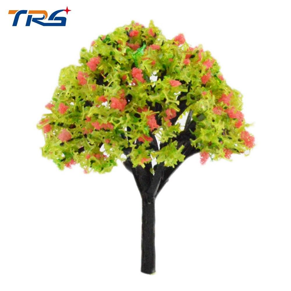 Teraysun 40-80mm Flower Trees Model Train Layout Model Colorful Trees Train Railway Scenery Layout