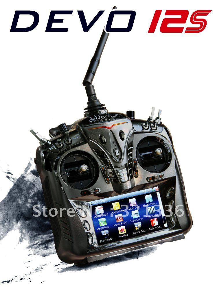 Walkera DEVO 12S 12CH 2 4G touch screen Transmitter W DEVO RX1202 Receiver Alu Case Controller