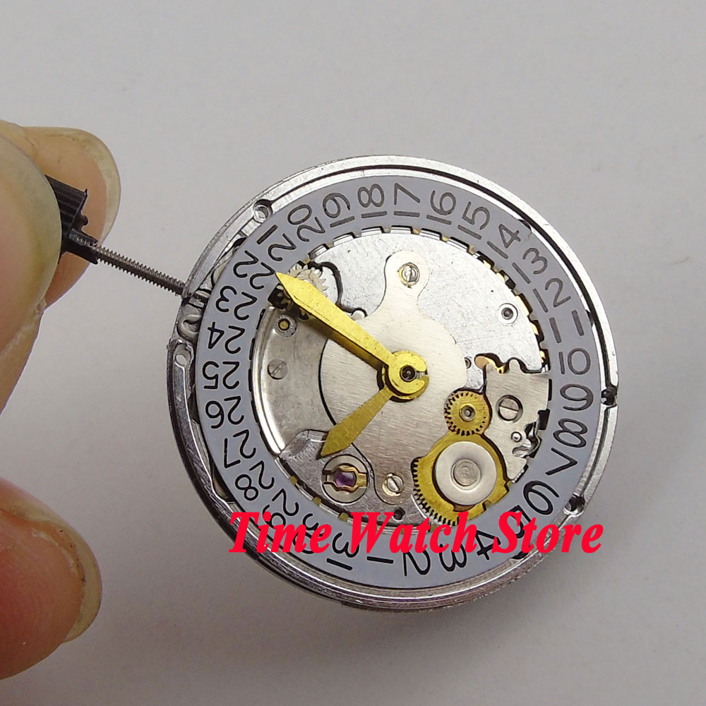 где купить Clone ETA 2824 movement Shanghai Mechanical Automatic movement date display fit for SUB men's watch parnis watch M15 дешево