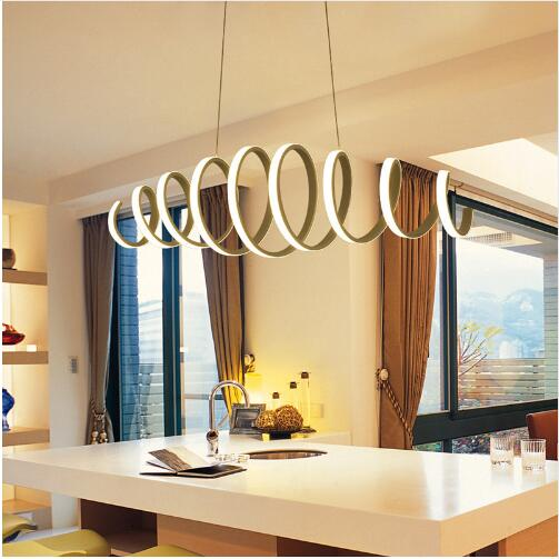 AC85-260V led <font><b>pendant</b></font> <font><b>light</b></font> dining room bar kitchen aluminum acrylic white hanging <font><b>pendant</b></font> lamp free shipping image