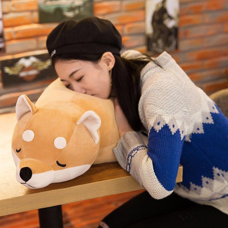 Algodón mentir felpa peluche perro juguetes grandes Shiba Inu Dog - Peluches y felpa - foto 3