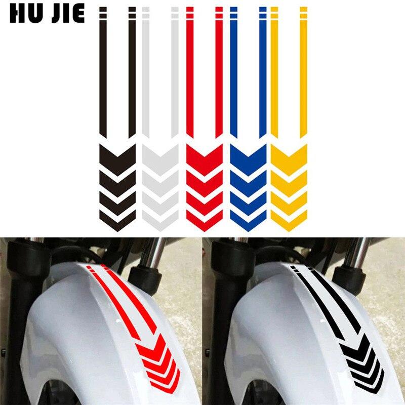 Motorcycle Reflective Stickers Wheel On Fender Waterproof Car Decals Styling Accessories For Honda Yamaha Kawasaki Suzuki Ducati