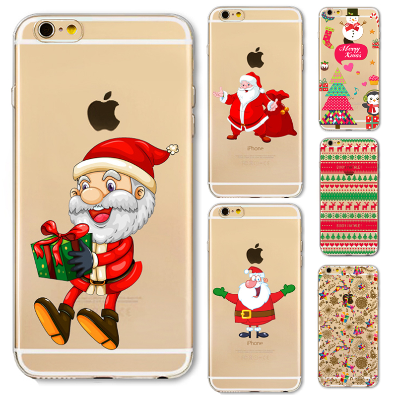 Phone Cover Case For iPhone 6 6S Plus 5 5S SE 6Plus 6SPlus Amazing Present Santa Claus Christmas Soft Silicone Capa Fundas