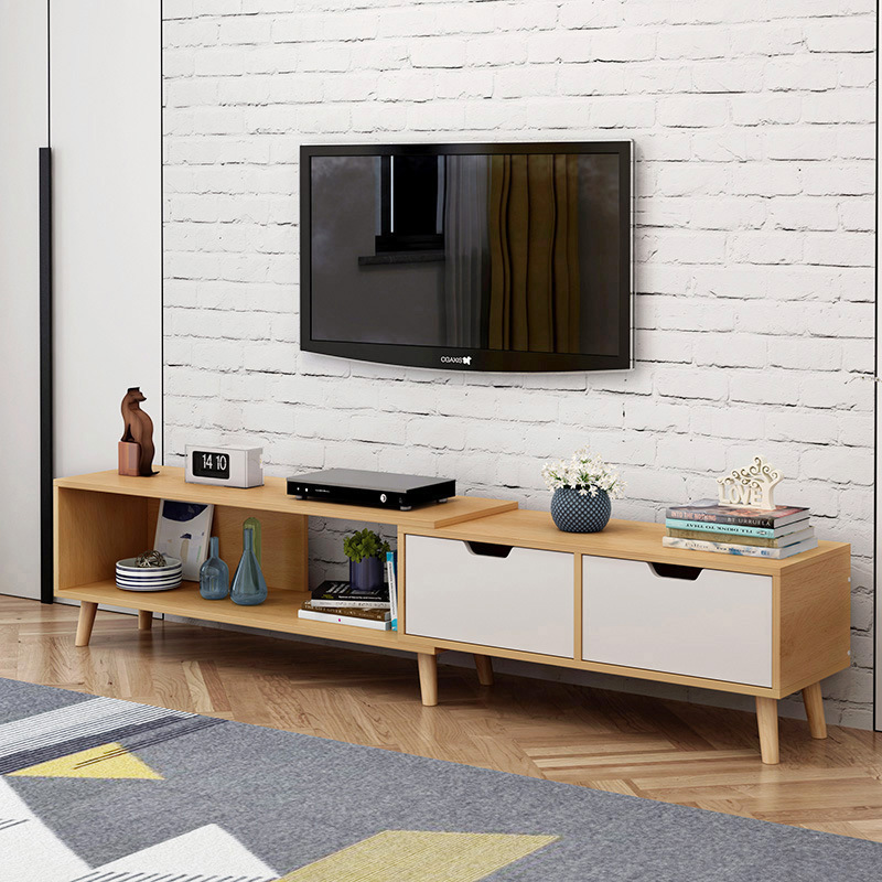 LK1695 Hot Sell TV Cabinet Combination Coffee Table Nordic Living Room Furniture Mini Telescopic Cabinet Width Adjustable