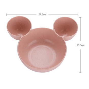 Children Kids Cute Cartoon Mouse Bowl Dishes Lunch Box 1