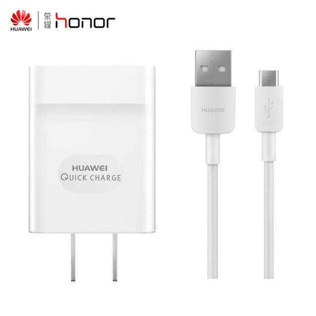 100% Original HUAWEI Quick Charge 2.0 Fast Charge 9V 2A & 5V 2A Mobile Phone Charger USB Charging Plug Data Cable